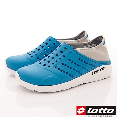 Lotto樂得-潮流洞洞鞋-SI757水藍(男段)