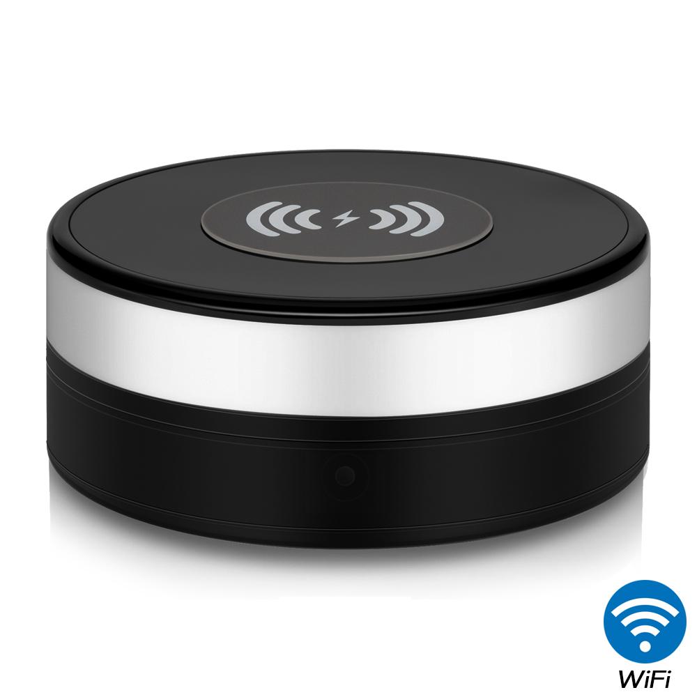 【CHICHIAU】WIFI無線網路高清1080P旋轉鏡頭無線充電器造型-針孔微型攝影機