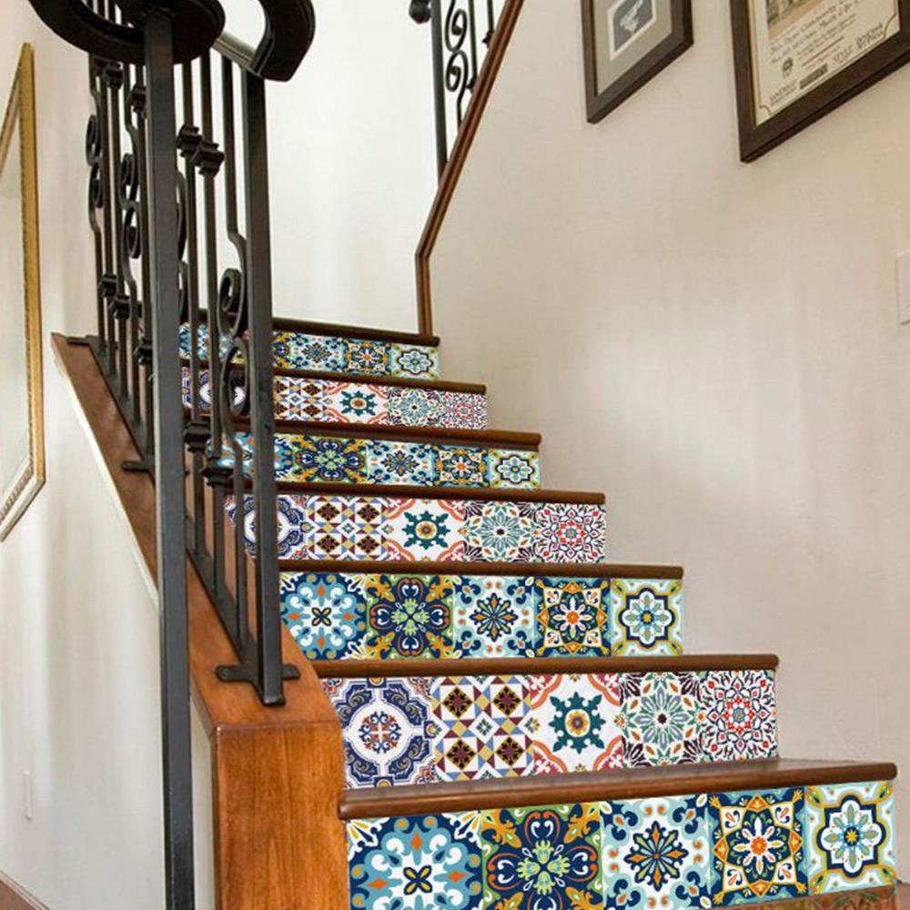 佶之屋 歐式復古加厚珍珠膜DIY自黏防油壁貼15x15cm