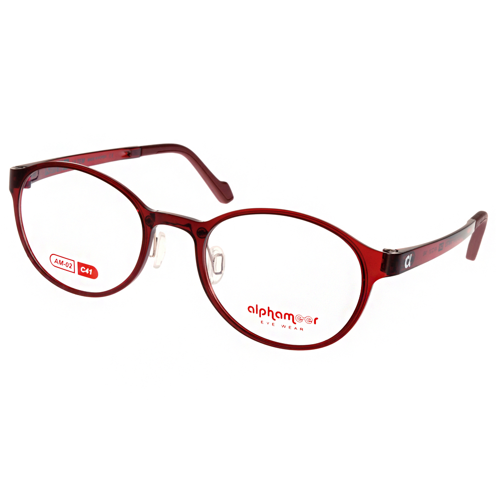 Alphameer光學眼鏡 韓國塑鋼系列/透紅#AM02 C41