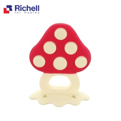 Richell 利其爾 寶寶咬咬系列固齒器 - 蘑菇 (附盒)