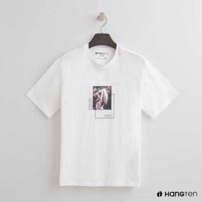 Hang Ten- 青少童裝-有型單圖純棉T恤-白