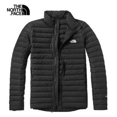 The North Face北面男款黑色防潑水羽絨外套|3VSKJK3