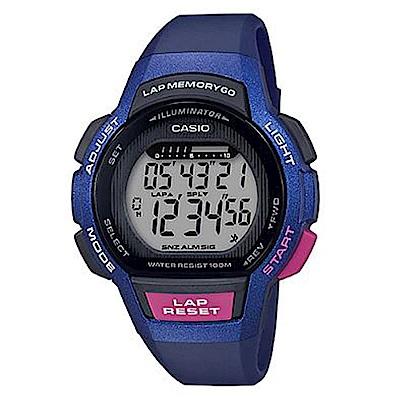 CASIO慢活首選輕量型混色運動休閒(LWS-1000H-2A)藍框/43.6m