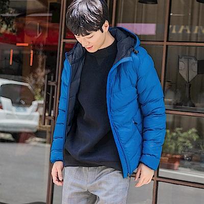純色簡約科技羽絨棉外套-OB大尺碼