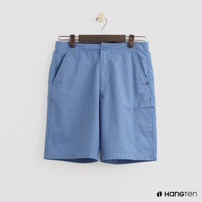 Hang Ten - 男裝 -ThermoContro-素面口袋休閒短褲 - 淺藍