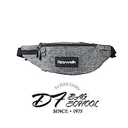 DF BAGSCHOOL -型男防潑水多扣帶可插卡式腰包