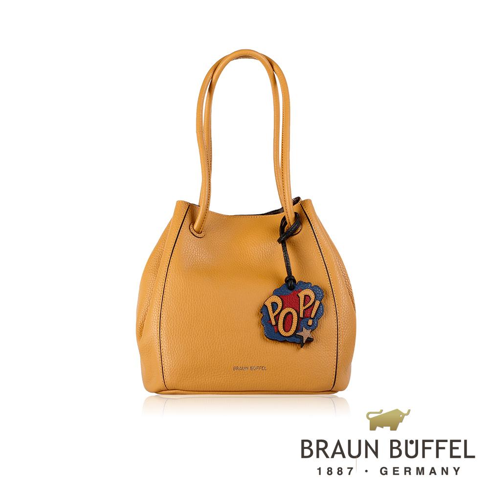 BRAUN BUFFEL -DELIA-P黛莉亞系列荔枝紋水桶包 - 吉米黃