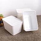 【HOUSE】純白牛奶附蓋收納盒-圓角4號-大高桶(6入)台灣製造