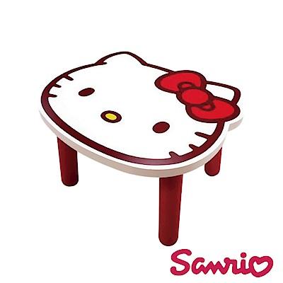 Hello Kitty 凱蒂貓 台灣製大頭造型矮凳椅子-白
