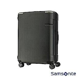 Samsonite新秀麗 30吋 Evoa 拉絲光澤防盜拉鍊抗震輪TSA硬殼行李箱(黑)