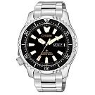 CITIZEN 星辰 200米潛水機械手錶NY0090-86E-黑X銀/42mm