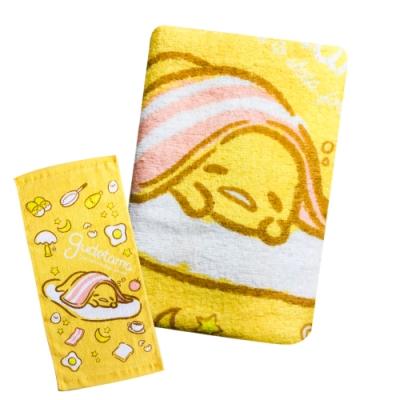 Sanrio三麗鷗授權 gudetama蛋黃哥培根童巾(6入)