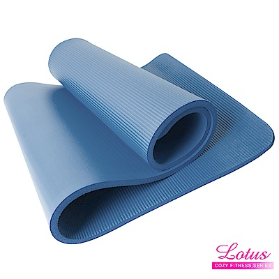 瑜珈墊 福利品 台灣製造加長加厚NBR 15mm瑜珈墊-大海藍 LOTUS