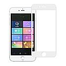 NISDA iPhone 6 plus / i6s plus 滿版3D電鍍精雕玻璃貼-白