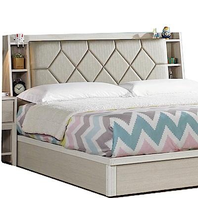 綠活居 羅波利時尚5尺皮革木紋雙人床頭箱-152x24x103cm-免組