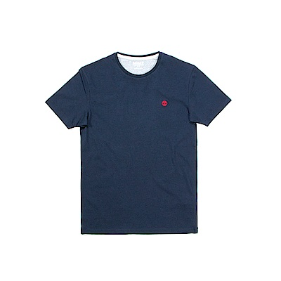 Timberland 男款藍色修身版短袖圓領T恤