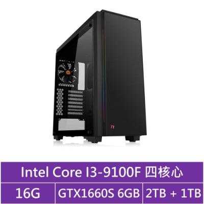 技嘉B365平台[冰刃風神]i3四核GTX1660S獨顯電玩機