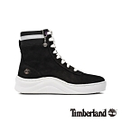 Timberland 女款黑色磨砂革厚底高筒運動鞋|A22VE
