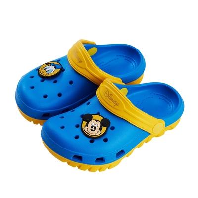 迪士尼童鞋 米奇與唐老鴨 雙色洞洞防水涼鞋-藍(柏睿鞋業)