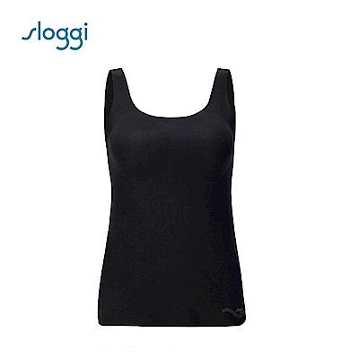 sloggi ZERO Feel Cotton 零感系列混棉款長版背心式內衣 純粹黑