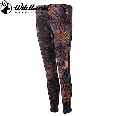 【Wildland 荒野】女彈性時尚保暖內搭褲黃