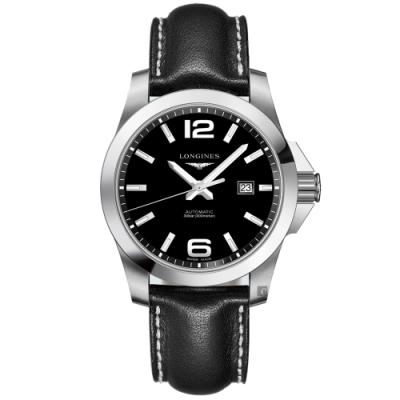 LONGINES浪琴 Conquest 征服者300米機械錶-43mm (L37784583)