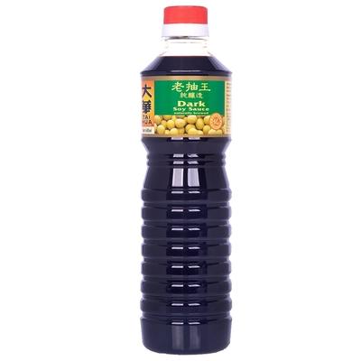 新加坡大華-特級純釀造醬油(老抽)640ML