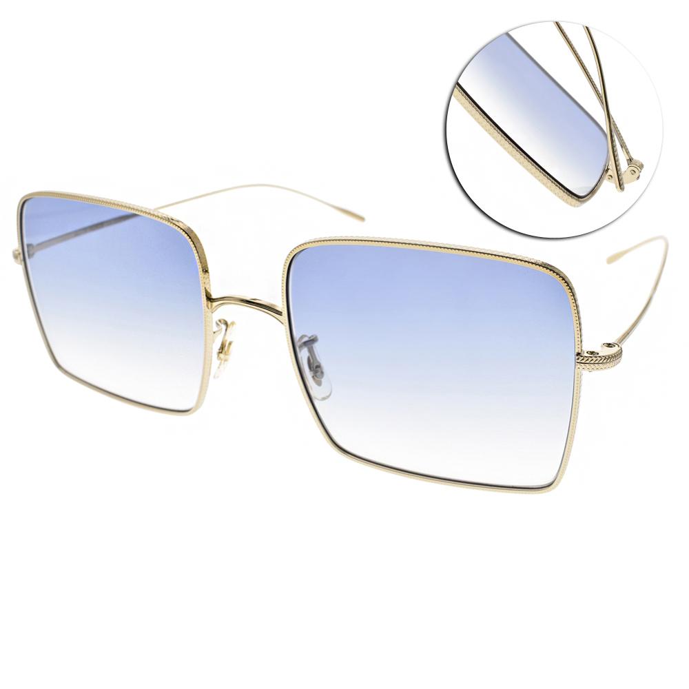 OLIVER PEOPLES墨鏡 熱銷金屬方框/金-漸層藍#RASSINE 503519