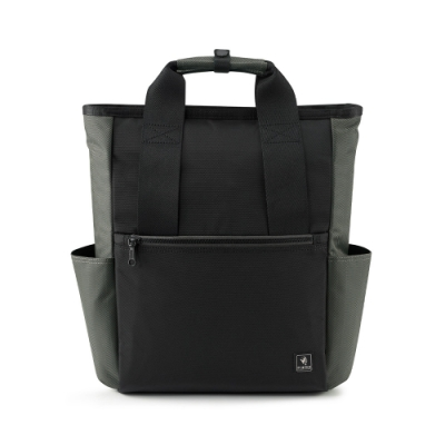 PORTER - 俐落品味INTER簡約型格後背包 (M) - 灰綠