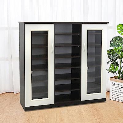 Boden-防潮防蛀塑鋼4.1尺透視開放鞋櫃(四色可選)123x34x117cm