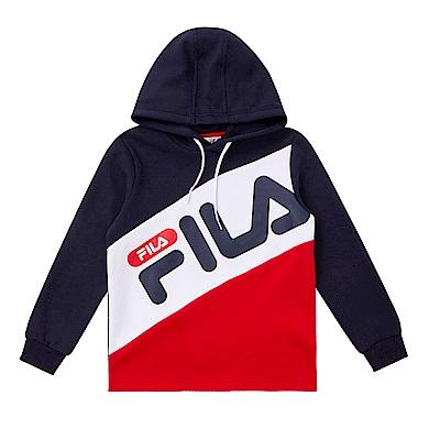 FILA KIDS 童長袖連帽上衣-紅 1TES-8405-RD