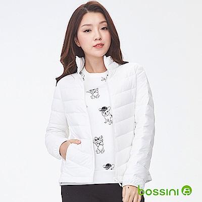 bossini女裝-彈性無縫羽絨外套灰白