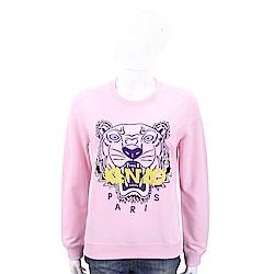 KENZO Embroidered Tiger 刺繡虎頭粉色棉質運動衫