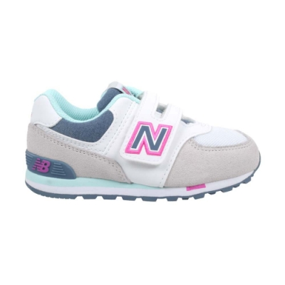 NEWBALANCE 574系列 男女童復古慢跑鞋-WIDE-NB N字鞋 IV574NLH 白灰紅藍