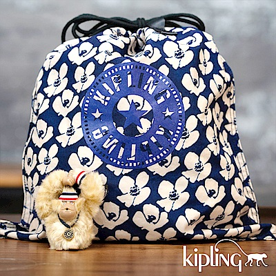 Kipling 手提包 夏日時光花卉印花-大