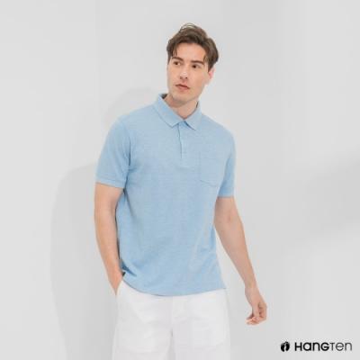 Hang Ten-男裝-口袋短袖POLO衫-天空藍