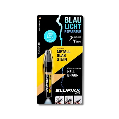 德國BLUFIXX  藍光固化膠/補充膠- 硬質型淺棕色 德國製