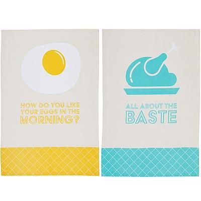 《KitchenCraft》純棉擦拭布2入(烤雞與蛋)