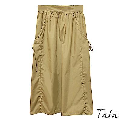 素色繫帶半身裙 共二色 TATA-(S~XL)