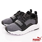 PUMA童鞋 針織綁帶機能款 TH67382-01灰黑(中小童段)