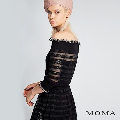 限時商品 | MOMA 鏤空條紋針織洋裝