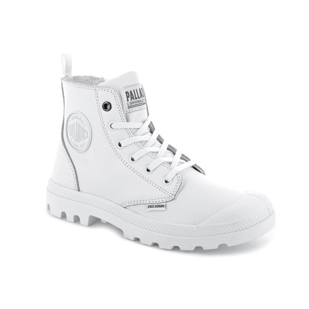 Palladium PAMPA HI ZIP 男女休閒鞋 白色-75984101