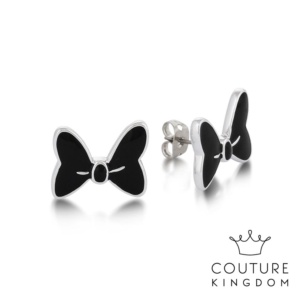 Disney Jewellery by Couture Kingdom米妮蝴蝶結鍍白金耳釘