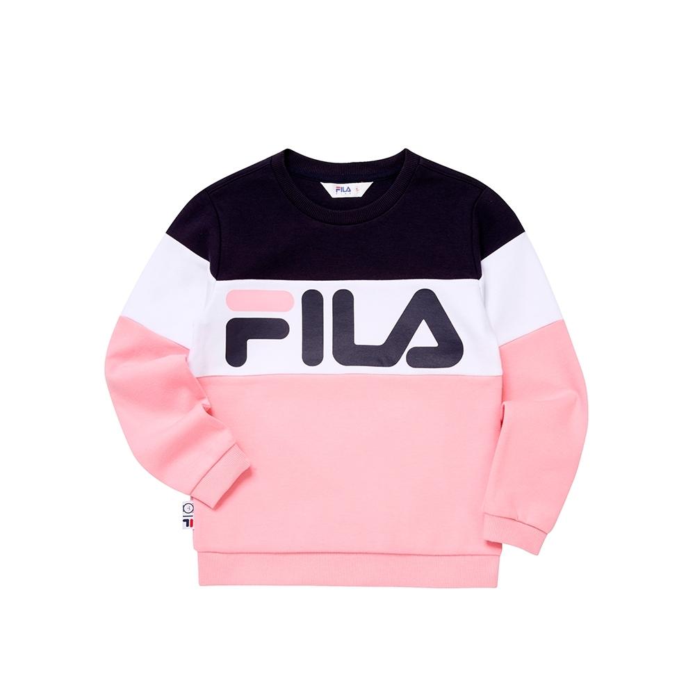 FILA KIDS WONNIE FRIENDS 童長袖上衣-粉色 1TEU-4507-PK
