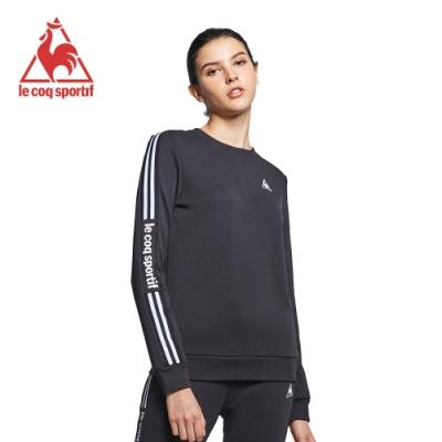le coq sportif 法國公雞牌運動圓領T恤 女-黑