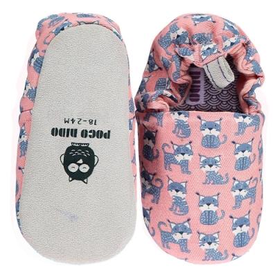英國 POCONIDO 手工嬰兒鞋 (幸福小山貓-薰衣草粉紫)