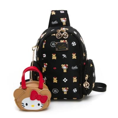 Hello Kitty聯名- 單肩背包可後背 DEAR BEAR熊熊系列-黑色