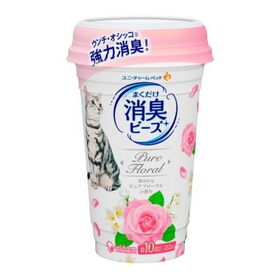 日本Unicharm消臭大師貓盆消臭粒-純淨花香(450ml/罐)