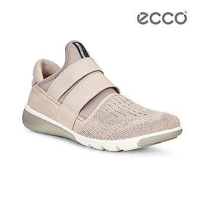 ECCO  INTRINSIC 2 3D針織運動時尚休閒鞋-裸色